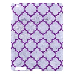 Tile1 White Marble & Purple Denim (r) Apple Ipad 3/4 Hardshell Case by trendistuff