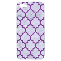 Tile1 White Marble & Purple Denim (r) Apple Iphone 5 Hardshell Case by trendistuff