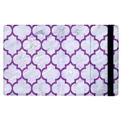 Tile1 White Marble & Purple Denim (r) Apple Ipad 3/4 Flip Case by trendistuff