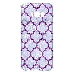 Tile1 White Marble & Purple Denim (r) Samsung Galaxy S8 Plus Hardshell Case  by trendistuff