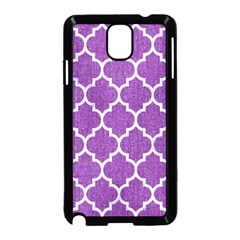 Tile1 White Marble & Purple Denim Samsung Galaxy Note 3 Neo Hardshell Case (black) by trendistuff