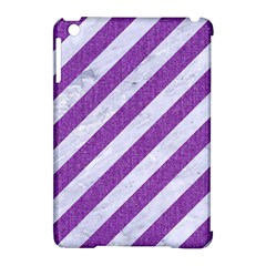 Stripes3 White Marble & Purple Denim (r) Apple Ipad Mini Hardshell Case (compatible With Smart Cover) by trendistuff