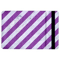 Stripes3 White Marble & Purple Denim (r) Ipad Air 2 Flip by trendistuff