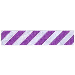 Stripes3 White Marble & Purple Denim (r) Small Flano Scarf by trendistuff