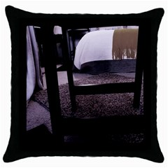 Colors And Fabrics 27 Throw Pillow Case (black)