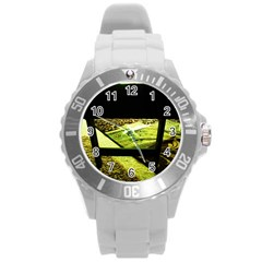 Colors And Fabrics 25 Round Plastic Sport Watch (l) by bestdesignintheworld