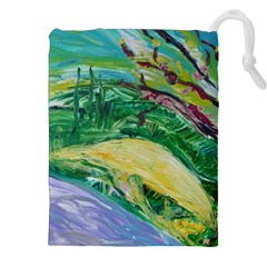 Yellow Boat And Coral Tree Drawstring Pouches (xxl) by bestdesignintheworld