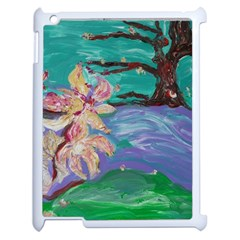 Magnolia By The River Bank Apple Ipad 2 Case (white) by bestdesignintheworld