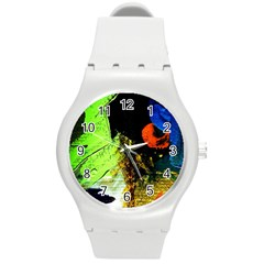 I Wonder Round Plastic Sport Watch (m) by bestdesignintheworld