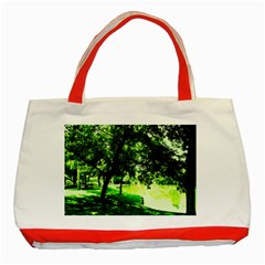 Lake Park 17 Classic Tote Bag (red) by bestdesignintheworld