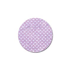 Scales2 White Marble & Purple Glitter (r) Golf Ball Marker (10 Pack) by trendistuff