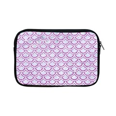 Scales2 White Marble & Purple Glitter (r) Apple Ipad Mini Zipper Cases by trendistuff