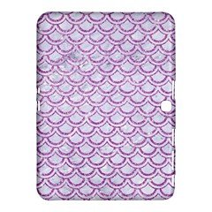 Scales2 White Marble & Purple Glitter (r) Samsung Galaxy Tab 4 (10 1 ) Hardshell Case  by trendistuff