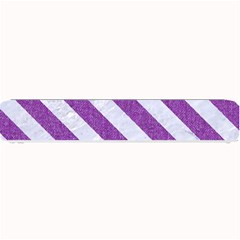 Stripes3 White Marble & Purple Denim Small Bar Mats by trendistuff