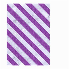 Stripes3 White Marble & Purple Denim Small Garden Flag (two Sides) by trendistuff
