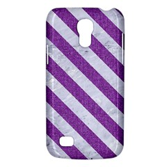 Stripes3 White Marble & Purple Denim Galaxy S4 Mini by trendistuff