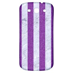 Stripes1 White Marble & Purple Denim Samsung Galaxy S3 S Iii Classic Hardshell Back Case by trendistuff