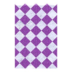 Square2 White Marble & Purple Denim Shower Curtain 48  X 72  (small)  by trendistuff