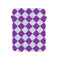 Square2 White Marble & Purple Denim Apple Ipad 2/3/4 Protective Soft Cases by trendistuff