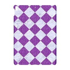 Square2 White Marble & Purple Denim Apple Ipad Pro 10 5   Hardshell Case by trendistuff