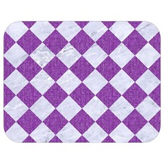 Square2 White Marble & Purple Denim Full Print Lunch Bag by trendistuff