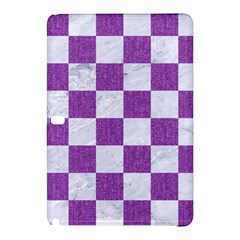 Square1 White Marble & Purple Denim Samsung Galaxy Tab Pro 12 2 Hardshell Case by trendistuff