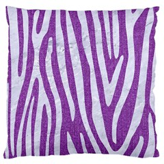 Skin4 White Marble & Purple Denim (r) Large Cushion Case (two Sides) by trendistuff