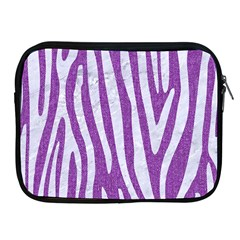 Skin4 White Marble & Purple Denim (r) Apple Ipad 2/3/4 Zipper Cases by trendistuff