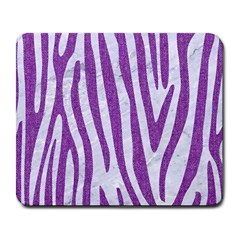 Skin4 White Marble & Purple Denim Large Mousepads by trendistuff