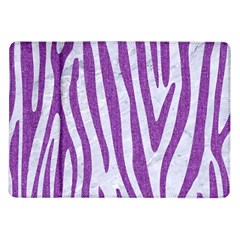 Skin4 White Marble & Purple Denim Samsung Galaxy Tab 10 1  P7500 Flip Case by trendistuff