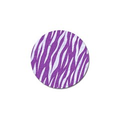 Skin3 White Marble & Purple Denim Golf Ball Marker by trendistuff
