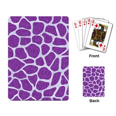 Skin1 White Marble & Purple Denim (r) Playing Card by trendistuff