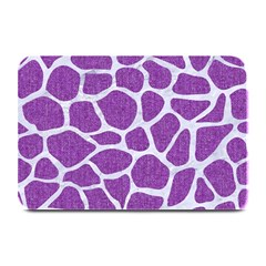 Skin1 White Marble & Purple Denim (r) Plate Mats by trendistuff