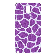 Skin1 White Marble & Purple Denim (r) Samsung Galaxy Note 3 N9005 Hardshell Back Case by trendistuff