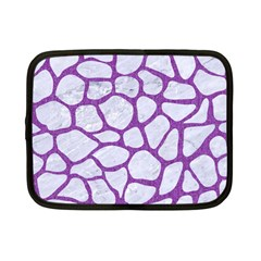 Skin1 White Marble & Purple Denim Netbook Case (small)  by trendistuff