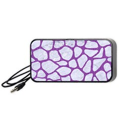 Skin1 White Marble & Purple Denim Portable Speaker by trendistuff