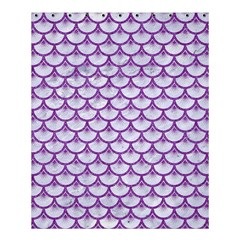 Scales3 White Marble & Purple Denim (r) Shower Curtain 60  X 72  (medium)  by trendistuff