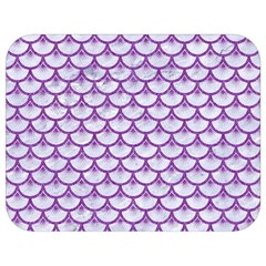 Scales3 White Marble & Purple Denim (r) Full Print Lunch Bag by trendistuff