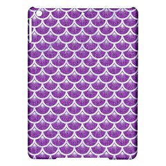 Scales3 White Marble & Purple Denim Ipad Air Hardshell Cases by trendistuff