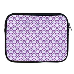 Scales2 White Marble & Purple Denim (r) Apple Ipad 2/3/4 Zipper Cases by trendistuff