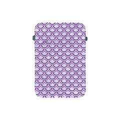 Scales2 White Marble & Purple Denim (r) Apple Ipad Mini Protective Soft Cases by trendistuff