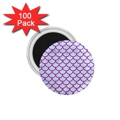 Scales1 White Marble & Purple Denim (r) 1 75  Magnets (100 Pack)  by trendistuff