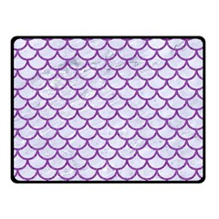 Scales1 White Marble & Purple Denim (r) Double Sided Fleece Blanket (small)  by trendistuff