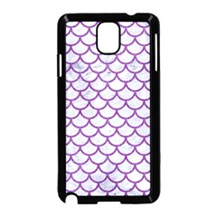 Scales1 White Marble & Purple Denim (r) Samsung Galaxy Note 3 Neo Hardshell Case (black) by trendistuff