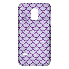 Scales1 White Marble & Purple Denim (r) Galaxy S5 Mini by trendistuff