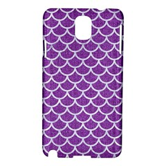 Scales1 White Marble & Purple Denim Samsung Galaxy Note 3 N9005 Hardshell Case by trendistuff
