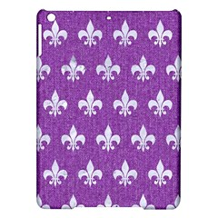 Royal1 White Marble & Purple Denim (r) Ipad Air Hardshell Cases by trendistuff