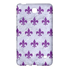 Royal1 White Marble & Purple Denim Samsung Galaxy Tab 4 (7 ) Hardshell Case  by trendistuff