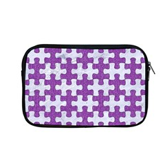 Puzzle1 White Marble & Purple Denim Apple Macbook Pro 13  Zipper Case by trendistuff