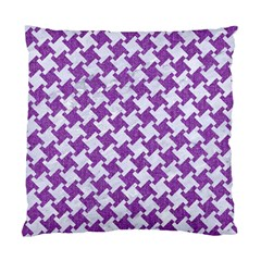 Houndstooth2 White Marble & Purple Denim Standard Cushion Case (one Side) by trendistuff